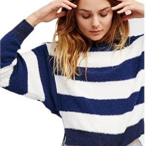 Free People Candyland Striped Pullover Sweater